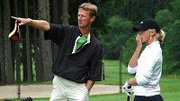 Bývalý tenisový reprezentant Petr Korda s dcerou Jessicou, talentovanou golfistkou, v Mariánských Lázních