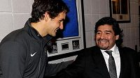 Roger Federer a Diego Maradona byli přáteli