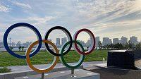 Olympijská vesnice leží přímo na břehu Tokijského zálivu.