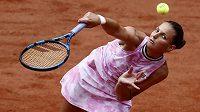 Česká tenistka Karolína Plíšková v akci na French Open.