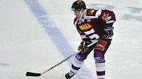 František Ptáček při úterním zápasu za Spartu.