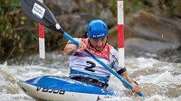 Jiří Prskavec na mistrovství republiky ve vodním slalomu.