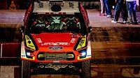 Česká posádka Martin Prokop, Jan Tománek sjíždí v Limě ze startovní rampy 41. ročníku Rallye Dakar.