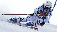 Viktoria Rebensburgová při obřím slalomu SP v Mariboru.