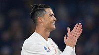 Fotbalista Juventusu Turín Cristiano Ronaldo se gólově prosadil v utkání 19. kola Serie A proti AS Řím