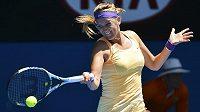 Běloruská tenistka Viktoria Azarenková v úvodním kole Australian Open.