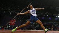 Barbora Špotáková v olympijském finálovém závodu oštěpařek