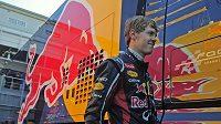 Sebastian Vettel během testování v Barceloně