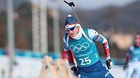 Ondřej Moravec na tréninku v Alpensia Biathlon Centre před zahájením zimních olympijských her v jihokorejském Pchjončchangu.