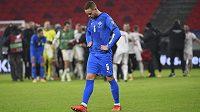 Zklamaný islandský fotbalista Sverrir Ingason po porážce s Maďarskem.