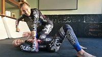 Lucie Pudilová a trenér Ladislav Erdélyi pilují formu na další zápas pod organizací UFC.
