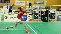 Česká badmintonistka Tallulah Sharleen Van Coppenolle v akci.
