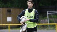Radek Hochmeister na tréninku fotbalistů Hradce Králové před posledním utkáním ročníku 2012/13 s Viktorií Plzeň.