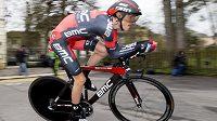 Americký cyklista Tejay Van Garderen při časovce závodu Kolem Romandie.