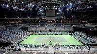 Tenisové kurty zejí kvůli pandemii koronaviru prázdnotou, nejinak tomu bude i v listopadu v Tokiu (ilustrační foto).