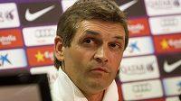 Tito Vilanova ještě jako kouč Barcelony na tiskové konferenci.