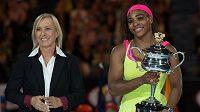 Martina Navrátilová a Serena Williamsová.