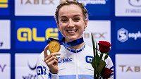 Britská dráhová cyklistka Elinor Barkerová.
