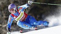 Slovinka Tina Mazeová během prvního kola obřího slalomu v Aspenu.