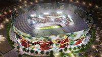 Architektonické skvosty, nejmodernější technologie, komfort, takové budou stadiony pro MS 2022. Na snímku vizualizace Al Raján Stadium.