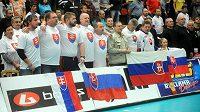 Slovenský nohejbalový tým na mistrovství světa v Nymburku