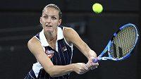Karolína Plíšková v zápase proti Keysové na turnaji v Brisbane