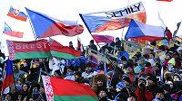Vyprodaná Vysočina aréna při Světovém poháru v biatlonu
