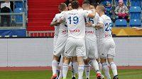 Radost v podání fotbalistů Baníku Ostrava.