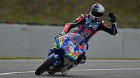 Jezdec kategorie Moto3 Filip Salač z České republiky během tréninku na Velkou cenu ČR.