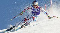 Francouzský lyžař Alexis Pinturault při Super G v Lenzerheide.