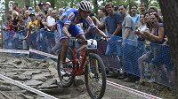 Ondřej Cink na Světovém poháru horských kol ve Val di Sole.