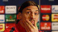Útočník Paris Saint-Germain Zlatan Ibrahimovic.