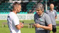 Hlavní trenér fotbalistů Karviné Jozef Weber (vpravo) se záložníkem Pavlem Eismannem.