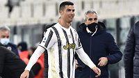 Hvězda Juventusu Turín - Cristiano Ronaldo - po vítězném zápase.