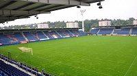Fotbalový stadión Slovácka v Uherském Hradišti.