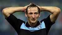 Útočník Lazia Řím Libor Kozák se proti Tottenhamu střelecky neprosadil.
