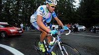 Cyklista Jan Bárta na trati letošního Gira d´Italia