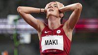 Běžkyně Kristiina Mäki v olympijském Tokiu.
