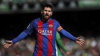 Barcelonský Lionel Messi.