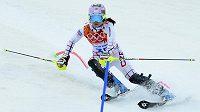 Česká lyžařka Martina Dubovská na olympiádě v Soči.