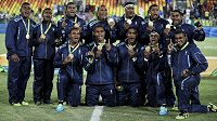 Ragbisté Fidži se zlatými medailemi z olympiády v Riu de Janeiro.