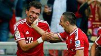 Mario Mandžukič a Franck Ribéry budou znovu patřit k největším útočním zbraním Bayernu Mnichov v úterním utkání Ligy mistrů v Plzni.