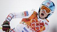 Česká lyžařka Klára Křížová pojede závod ve sjezdu.