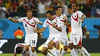 Fotbalisté Kostariky se radují z postupu do čtvrtfinále MS