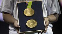 Zlaté medaile pro vítěze na olympijských hrách v Riu.
