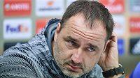 Trenér Slovanu Liberec Jindřich Trpišovský na tiskové konferenci před utkáním Evropské ligy s Fiorentinou.