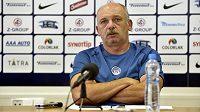 Trenér fotbalistů klubu 1. FC Slovácko Stanislav Levý na tiskové konferenci před začátkem sezóny.