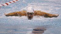 Michael Phelps během závodů v Athens.