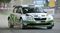 Jan Kopecký na trati Rallye Hustopeče