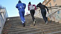 Schody patří do trénínkového plánu běžce. Víte o některých ve svém okolí?